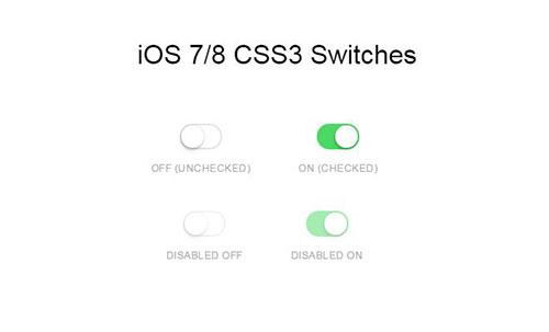 CSS3代码制作仿苹果风格开关