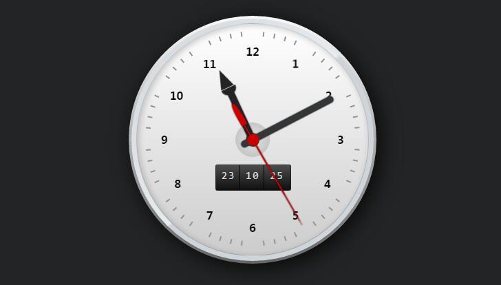 纯CSS3代码制作圆盘仿真钟表