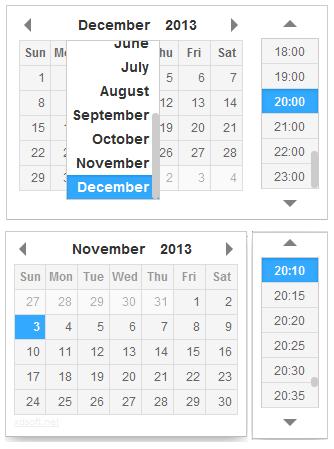 jQuery日期和时间选择插件DateTimePicker