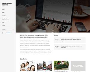 ZblogPHP主题:Company企业双语自适应