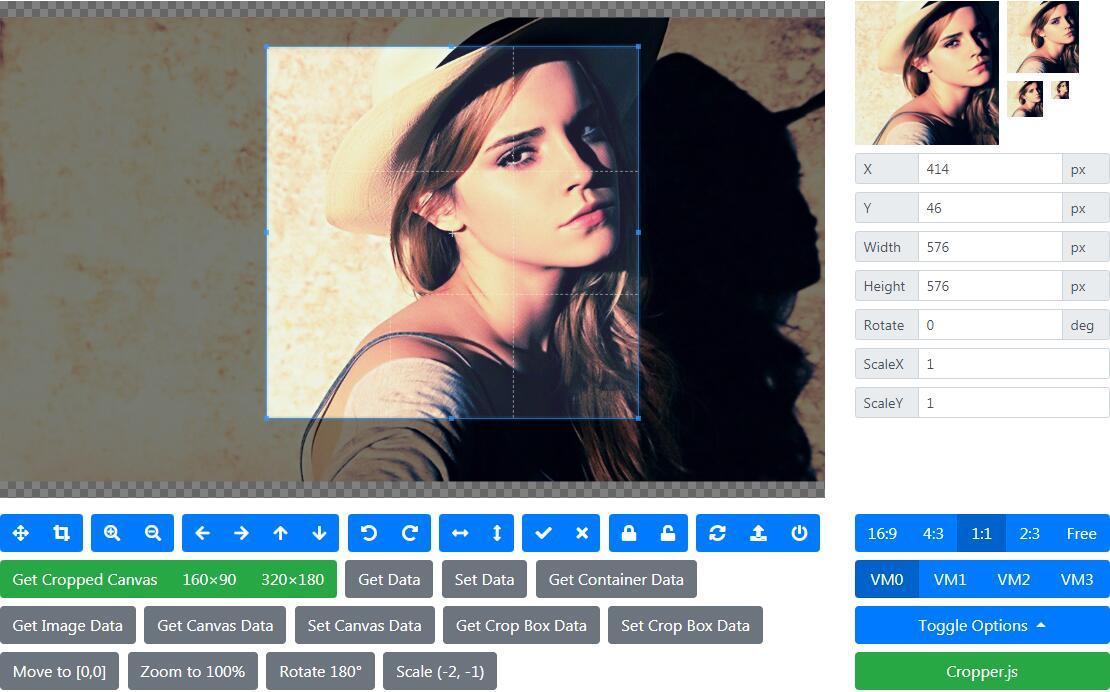 jQuery图片上传和裁剪插件Cropper.js